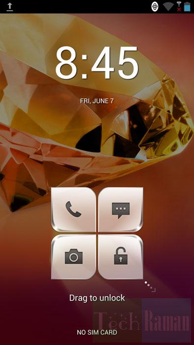 Leonovo-k900-lock-screen
