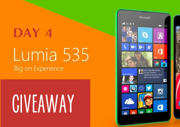 Giveaway : Day 4 Question to Win a Lumia 535 #AchieveMore