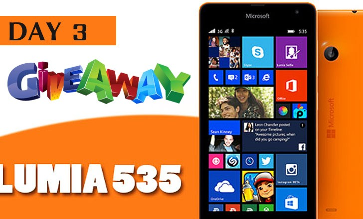 Giveaway : Day 3 Question to Win a Lumia 535 #AchieveMore