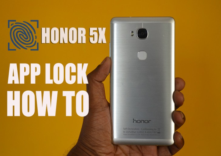 Honor 5X : How to Lock the Apps with Fingerprint Scanner