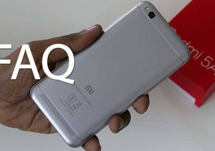 Xiaomi Redmi 5A FAQ : Answers to Frequently Asked Questions