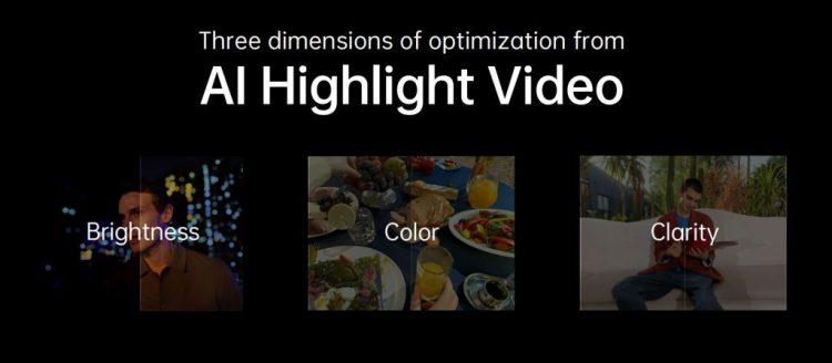AI highlight video Reno 5 Pro