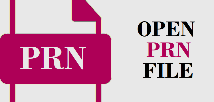 Open PRN File