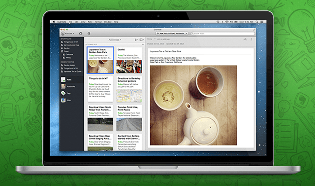 Evernote mac