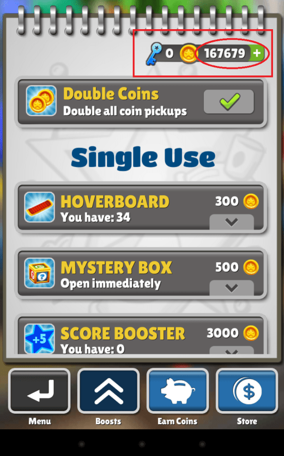 Subway Surfer coins