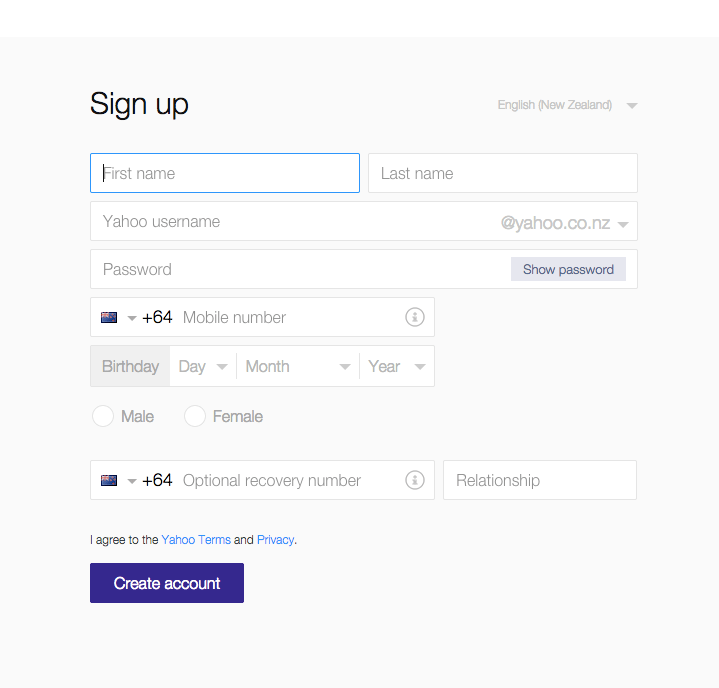 Xtra Mail Sign Up