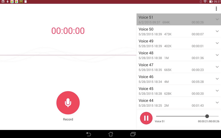 ASUS Sound Recorder APK 4