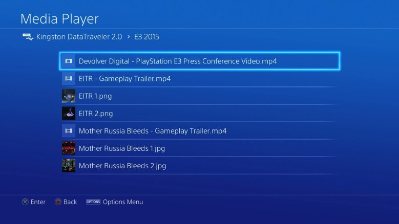 Media Player PS4