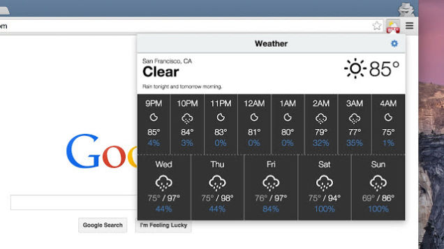 Weather extension