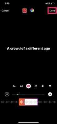 Lyrics Instagram Story