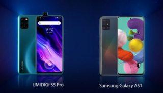 UMIDIGI S5 Pro vs Galaxy A51