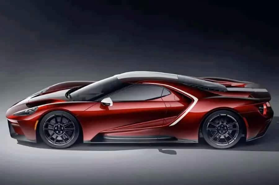 Ford Gt 2021 New Colour Scheme Red