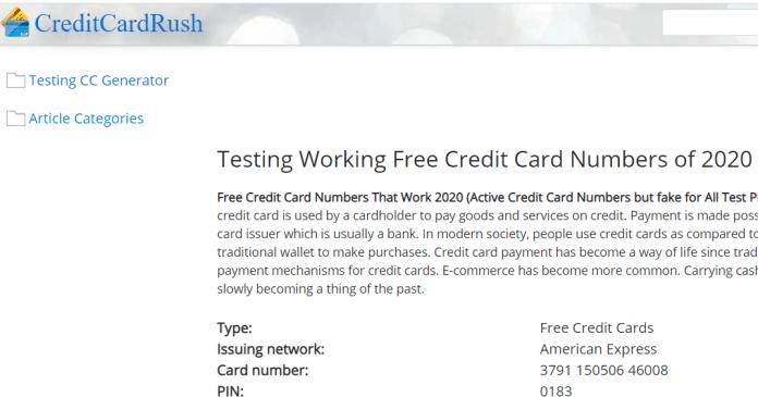 Credit Card Rush