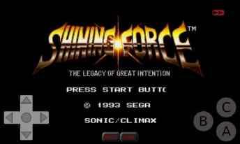 Shining Force On Genplusdroid Emulator