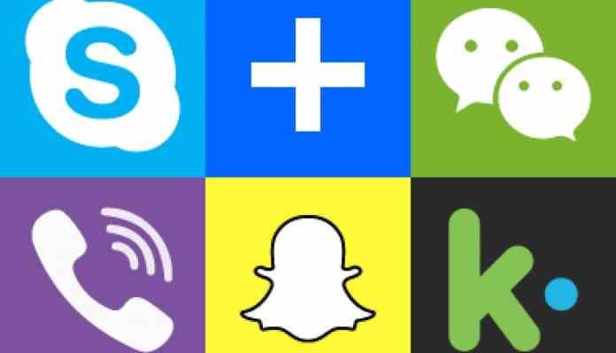 Viber Messenger, Skype, And Wechat