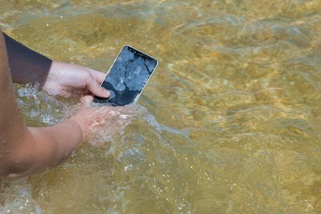 Beach Water On Phone