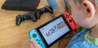 Child With Nintendo Switch