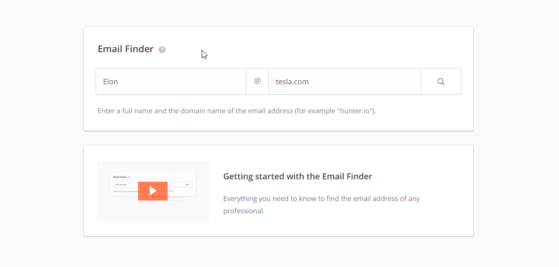 Hunter: Free email finder tool for marketers and professionals