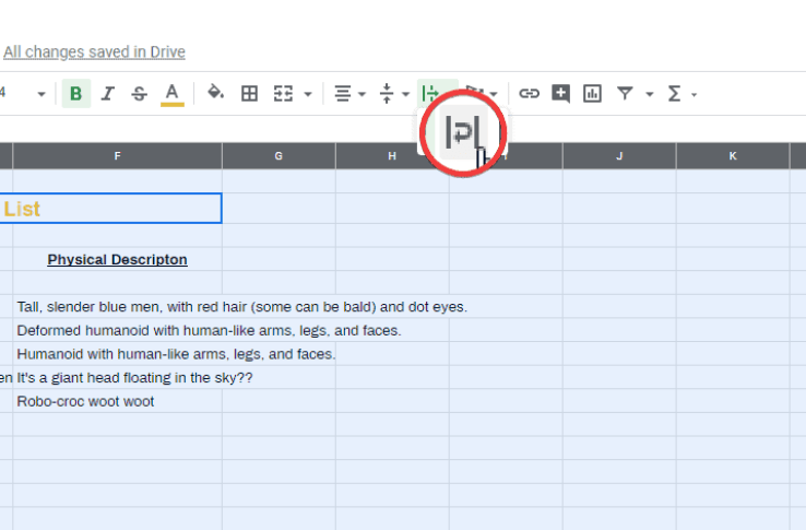 How to Wrap Text in Google Docs