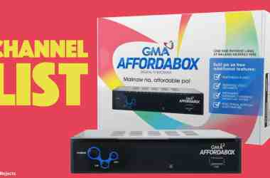 GMA affordabox channels list