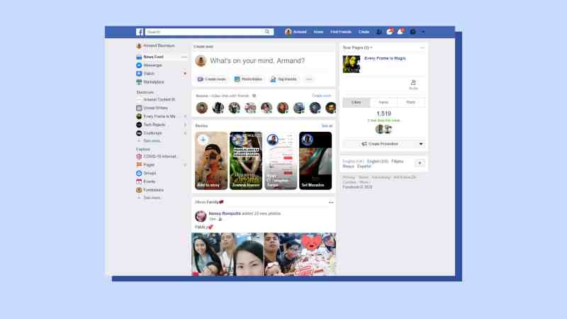 Facebook Old Version: How to get Facebook's old layout