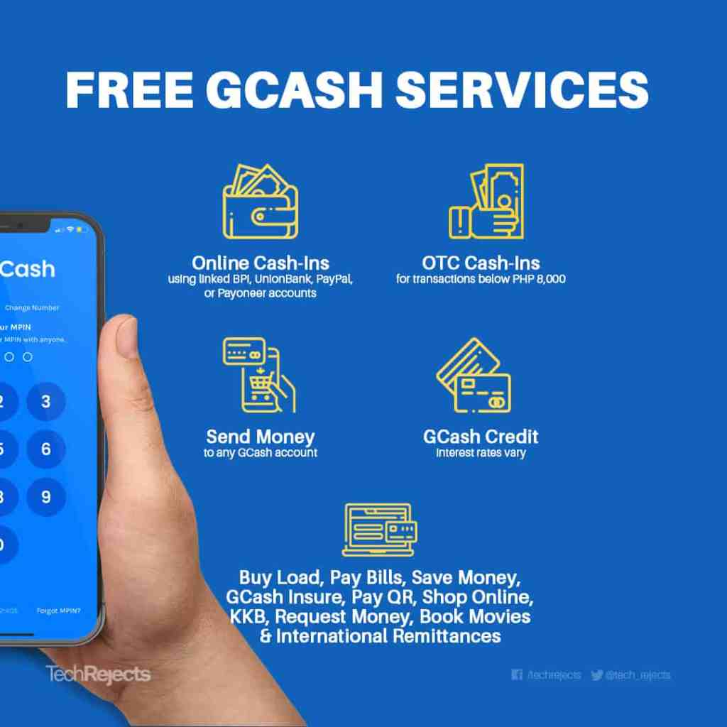 GCash Transaction Fees: Free and paid GCash services