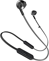 JBL T205BT Pure Bass Wireless Metal Earbud Headphones