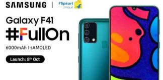 Samsung will launch the first phone in its F series on October 8.