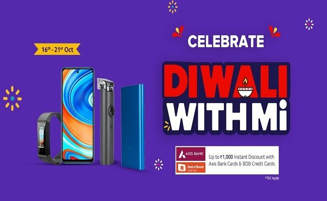 Xiaomi's 'Diwali with Mi' sale has begun and will go on till October 21