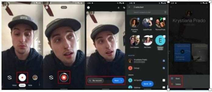 How to send a video message using Google Duo