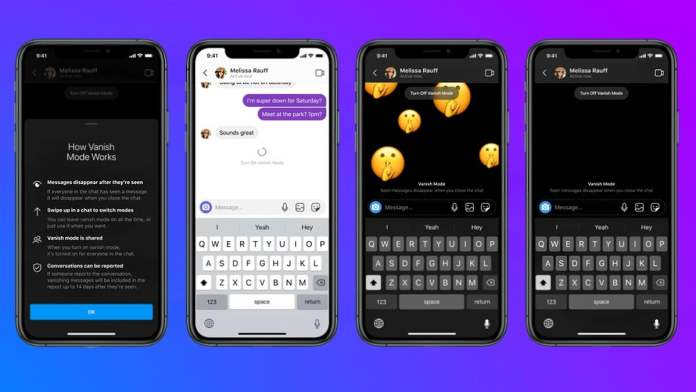 Facebook Launches Vanish Mode on Messenger and Instagram
