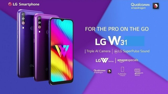 LG W11, LG W31, and LG W31+ have been launched in India