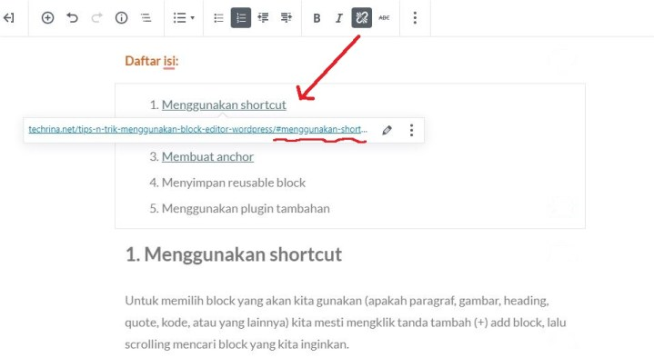 membuat link anchor