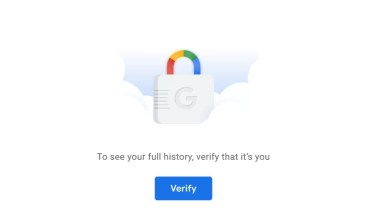 Password Protect My Activity search history
