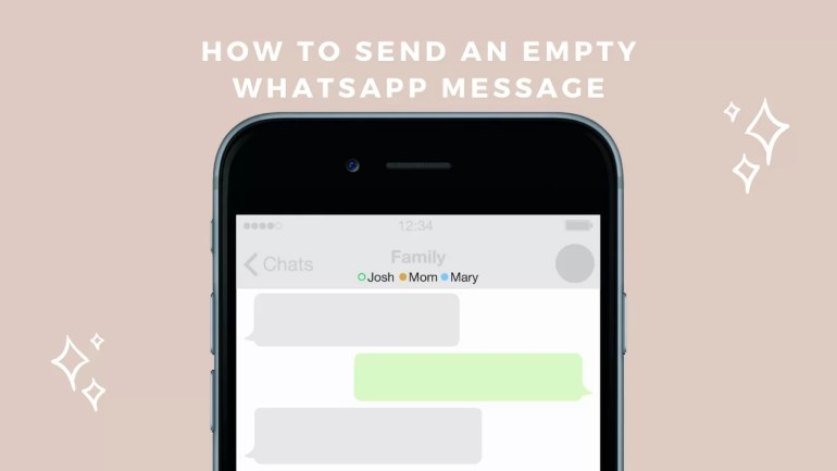 How to send an empty message in WhatsApp