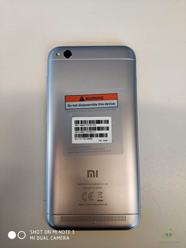 Xiaomi Redmi 5A Rear Camera 002