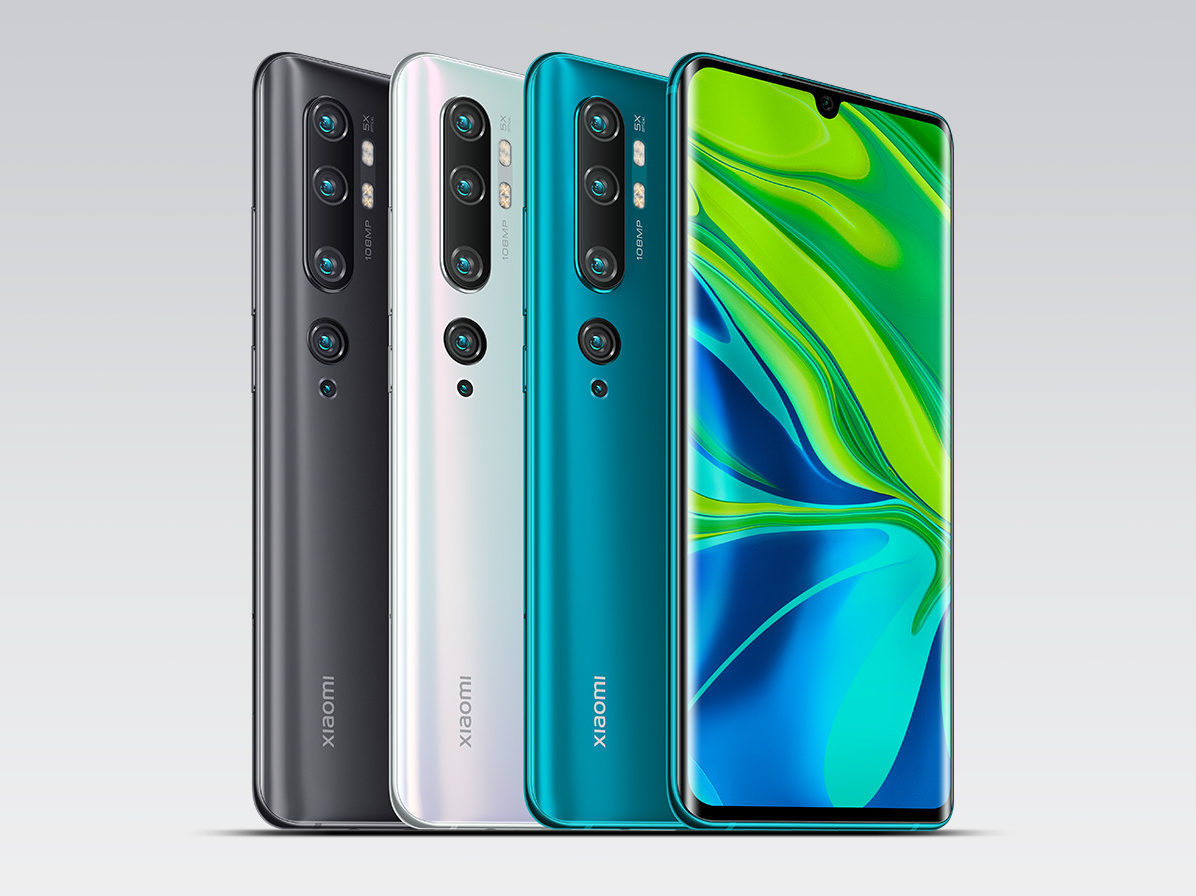 Xiaomi Mi Note 10 Colors