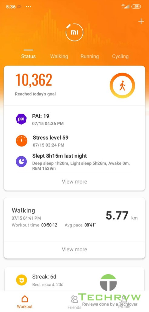Xiaomi Mi Band 5 Software 0012