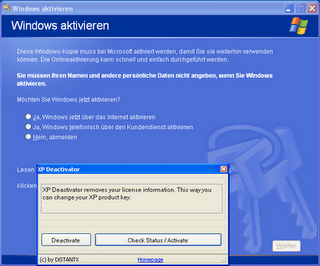 windows product key changer xp