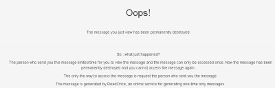 read-once-self-destructing-messages