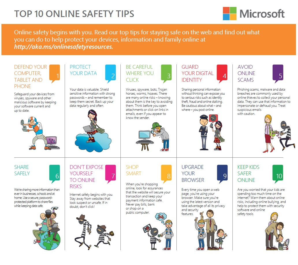 Top 10 Online Safety Tips