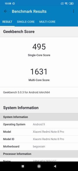 Redmi Note 8 Pro Benchmarks