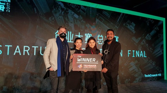 Blue Sky Labs wins Techsauce Roadshow 2018 prize in Shanghai, China.
