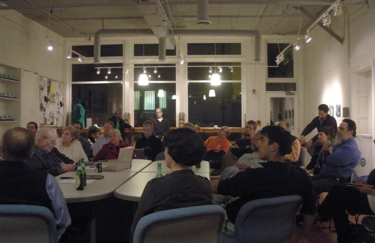 A bunch of people at an old Refresh Savannah meeting.