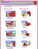 Website of the Week- Clifford Interactive Stories and Games