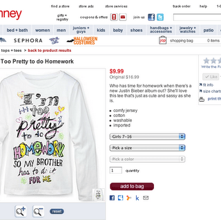 Hey JCPenney…It's great to be a smart girl!