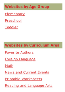 Tech Savvy Mama New Feature- Link Lists by Age and Curriculum Area!!