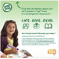 Donate Tag Books to K Classrooms with LeapFrog's Like. Give. Read on Facebook (w. giveaway)