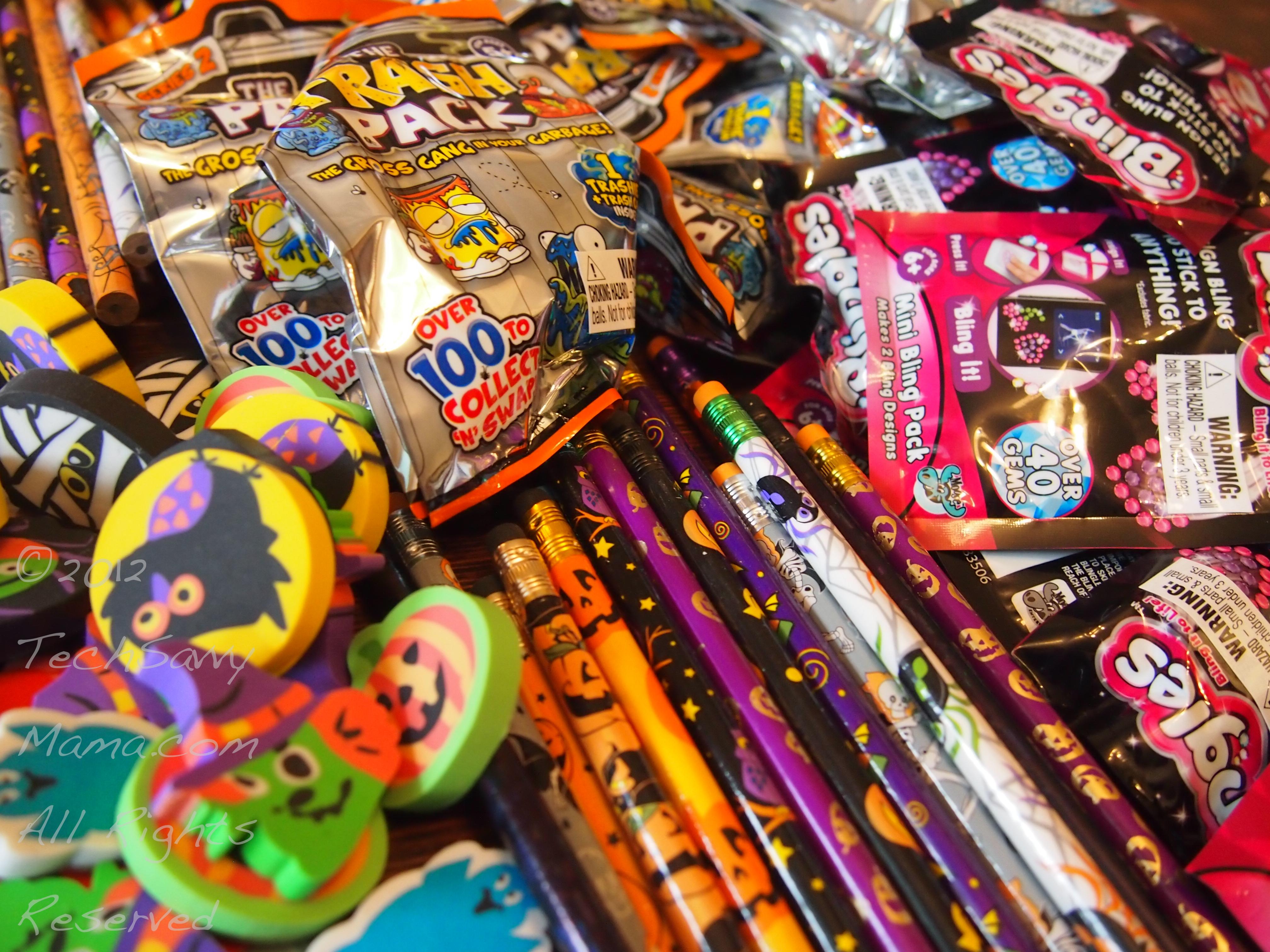 non-candy treats for class halloween treat bags - tech savvy mama