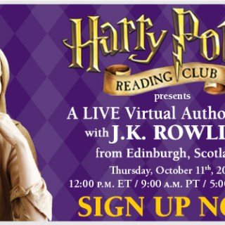 Harry Potter Reading Club: J.K. Rowling Virtual Author Webcast (10.11.12)